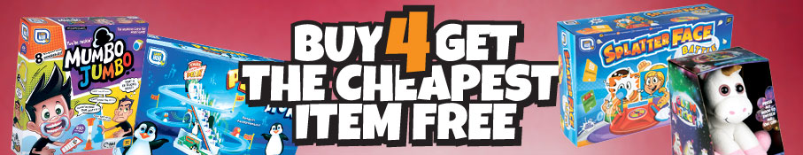 Buy 4 Get The Cheapest Item Free!