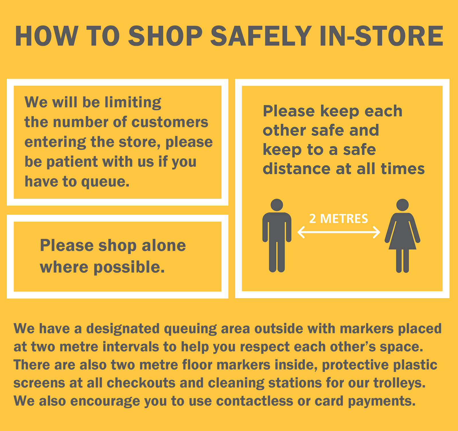 How to shop safely