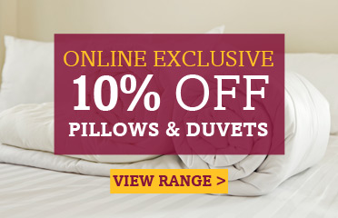 Save Up To 10% Off Selected Pillows & Duvets - Online Exclusive Deal