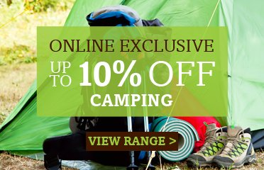 Save Up To 10% Off Selected Camping Equipment - Online Exclusive Deal