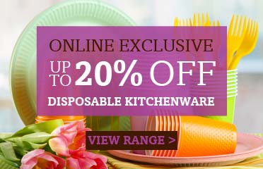 Save Up To 20% Off Disposable Kitchenware, Online Exclusive - 1 Week Only