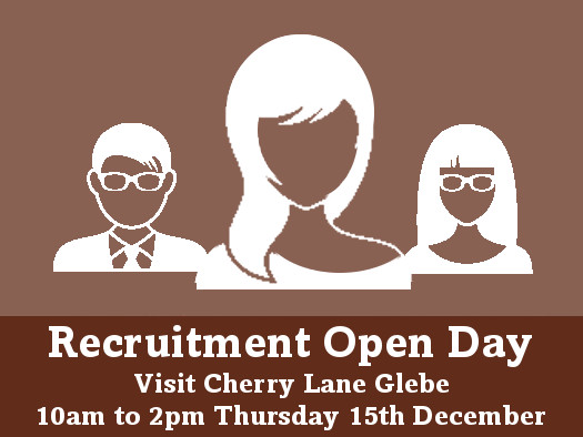 Recruitment open day at Cherry Lane Glebe-10.00am to 2.00pm Thursday 15th December
