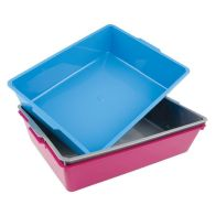 Large Litter Tray (Rectangular) Blue