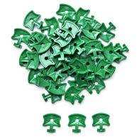 Aluminium Greenhouse Plastic Twist Clips 50 Pieces - Green