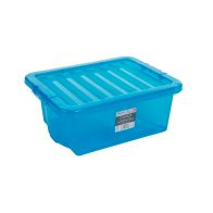 See more information about the 16L Wham Crystal Stacking Plastic Storage Blue Box & Clip Lid