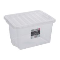 See more information about the 24L Wham Crystal Stacking Plastic Storage Box Clear Clip Lid