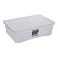 See more information about the 32L Wham Crystal Stacking Plastic Storage Clear Box & Clip Lid