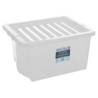 See more information about the 35L Wham Crystal Stacking Plastic Storage Clear Box & Clip Lid