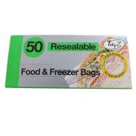 50 Pack Zip Lock Food Bags