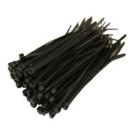 100 Pack Black Cable Ties (3.5mm)