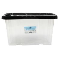 See more information about the 24L TML Stacking Plastic Storage Clear Box & Black Clip Lid