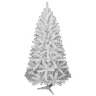 See more information about the 180cm (5 Foot 10 inch) White Oncor Pine 440 Tips Christmas Tree