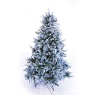 See more information about the 180cm (5 Foot 10 inch) Green Frosted Silver 1273 Tips Fir Tree
