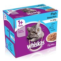 See more information about the 12 x 100g Pouch Whiskas Fish Selection In Jelly