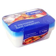 See more information about the Kingfisher Microwave Containers Blue Lids pack of 5