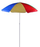 See more information about the 1.6M Colourful Beach & Garden Parasol - Multi coloured