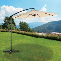 See more information about the Croft 3m Beige Overhang Parasol