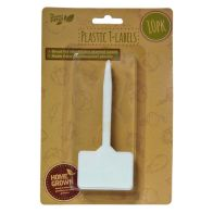 See more information about the Pack of 10 White Plastic Garden T-Labels