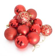 See more information about the 35 Pack Christmas Tree Baubles 6cm Red
