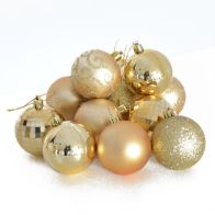 See more information about the 35 Pack Christmas Tree Baubles 6cm Gold