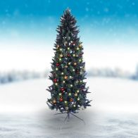 See more information about the Oncor 210cm (7 Foot) Green Slim Parana Pine 578 Tips Christmas Tree