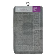 See more information about the 2 Piece Luxurious Bath Mat Set Dark Grey