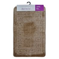 See more information about the 2 Piece Luxurious Bath Mat Set Brown