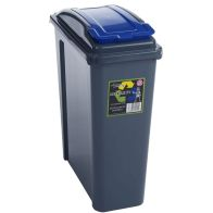 See more information about the Wham Slimline Recycle Bin Graphite/Blue 25ltr