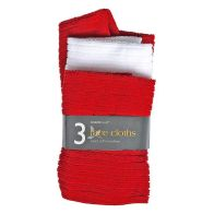 See more information about the 3 Pack Micro Soft Face Cloths - Red