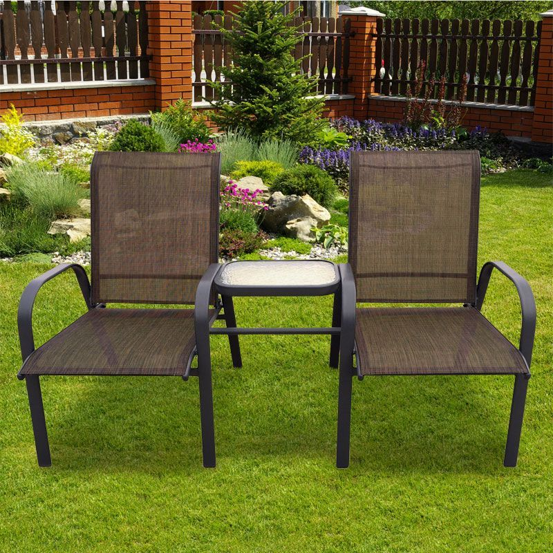 love seat garden bench table zoom image