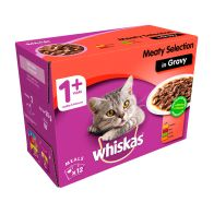 See more information about the Whiskas Wet Adult Cat Food Meaty Selection 12 Pouches