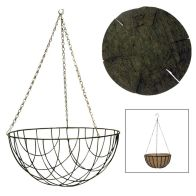 See more information about the Hanging Basket With Coco Liner 12 inch