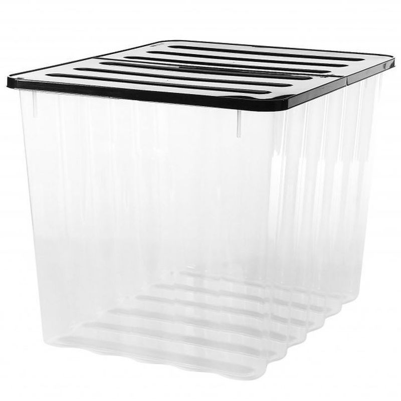 Buy 110L Strata Supa Nova Extra Large Plastic Storage Box Clear