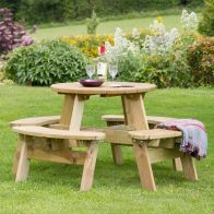 See more information about the Katie Round Picnic Table