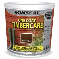 See more information about the Ronseal One Coat Timbercare 5 Litre - Medium Oak