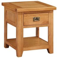 See more information about the Holkham Oak Lamp Table 1 Drawer Cotswold