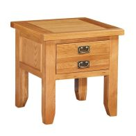 See more information about the Holkham Oak New lamp Table 2 Handles 1 Drawer Cotswold