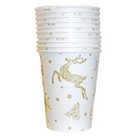 See more information about the Christmas Paper Cup 10 Pack - Reindeer