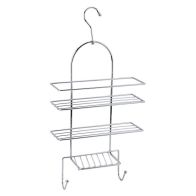 See more information about the Chrome Bathroom Shower Caddy Hanging Shelf