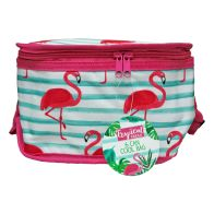 See more information about the Tropical Fresh 6 Can Cooler Bag - Flamingo Design