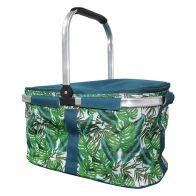 Tropical Fresh Trug Cooler - Leaf Design Trug Beach Picnic Cooler