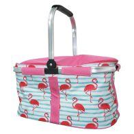 Tropical Fresh Trug Cooler - Flamingo Design