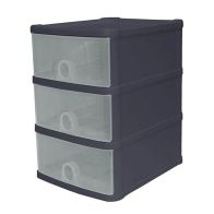 See more information about the 14L Premier 3 Drawer Plastic Storage Tower Clear & Black