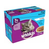 See more information about the Whiskas Wet Mature Cat Food Fish Selection 12 Pouches