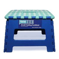 Home Essentials Small Folding Stool - Blue With White Spots