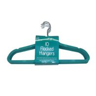 See more information about the 10 Pack of Flocked Hangers - Green