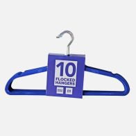 10 Pack of Flocked Hangers - Blue