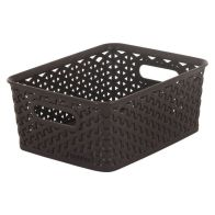 See more information about the 8L Curver My Style Rattan Basket - Dark Brown