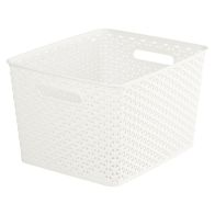 See more information about the 18L Curver My Style Rattan Basket - White