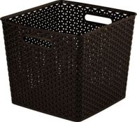 See more information about the 25L Curver My Style Rattan Basket - Dark Brown